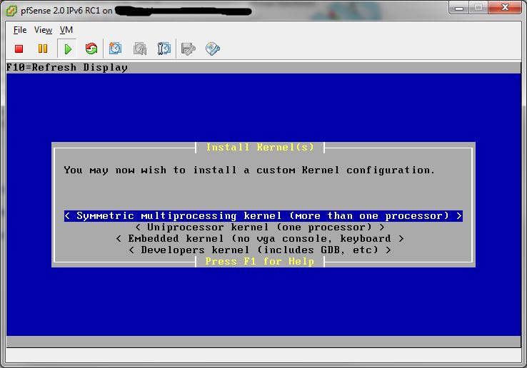 Installation de pfSense sur VMWare ESXi | www osnet eu